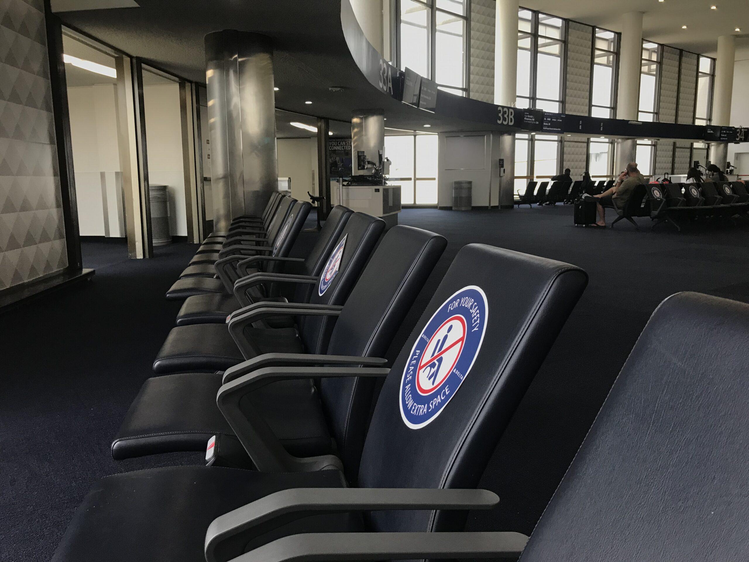 LAX terminal deserted due to coronavirus.
